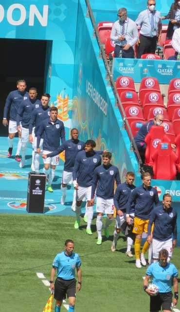 England emerge from the tunnel