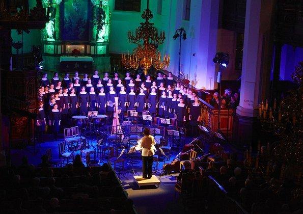 Princess Benedikte attended Copenhagen Girls' Choir's (Sankt Annæ Pigekor) Christmas concert at Church of the Holy Spirit in Copenhagen