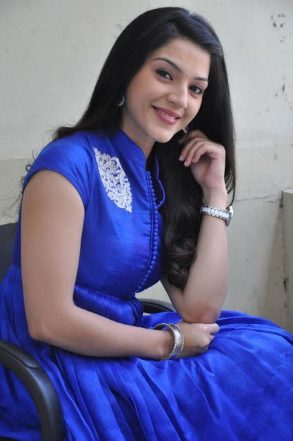 Tollywood Actress Mehrene Kaur Pirzada in high collar Neck Long Salwar Kameez