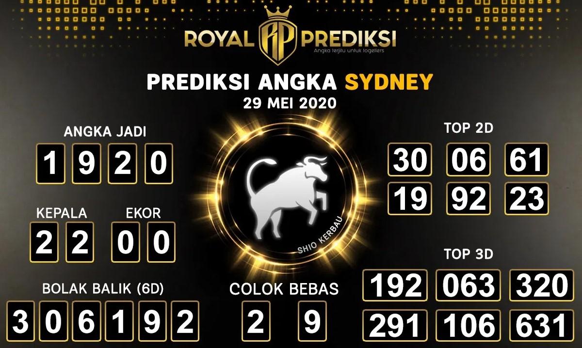 Prediksi Togel Sydney Jumat 29 Mei 2020 - Royal Prediksi