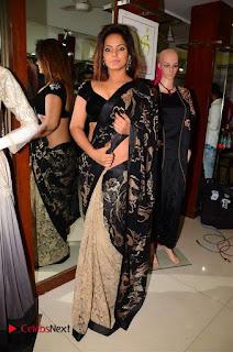 Actress Neetu Chandra Stills in Black Saree at Designer Sandhya Singh's Store Launch  0043.jpg