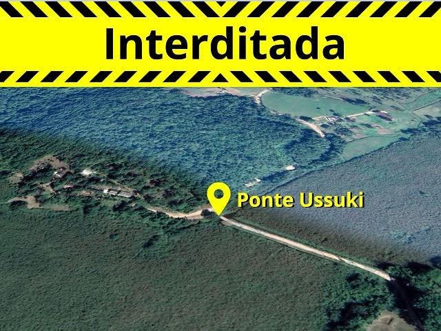 Estrada interditada - Ponte do Ussuki em Registro-SP
