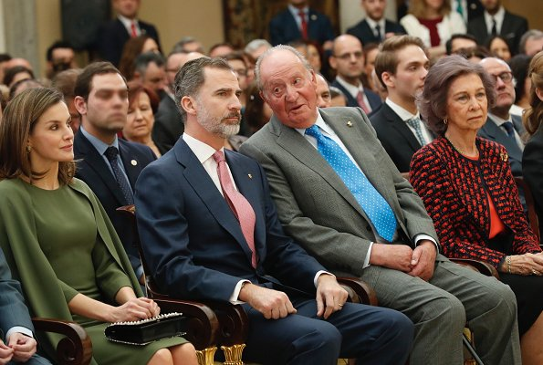 Queen Letizia, King Felipe VI, former King Juan Carlos, former Queen Sofia and Infanta Elena attended presentation ceremony of National Sport Awards 2016