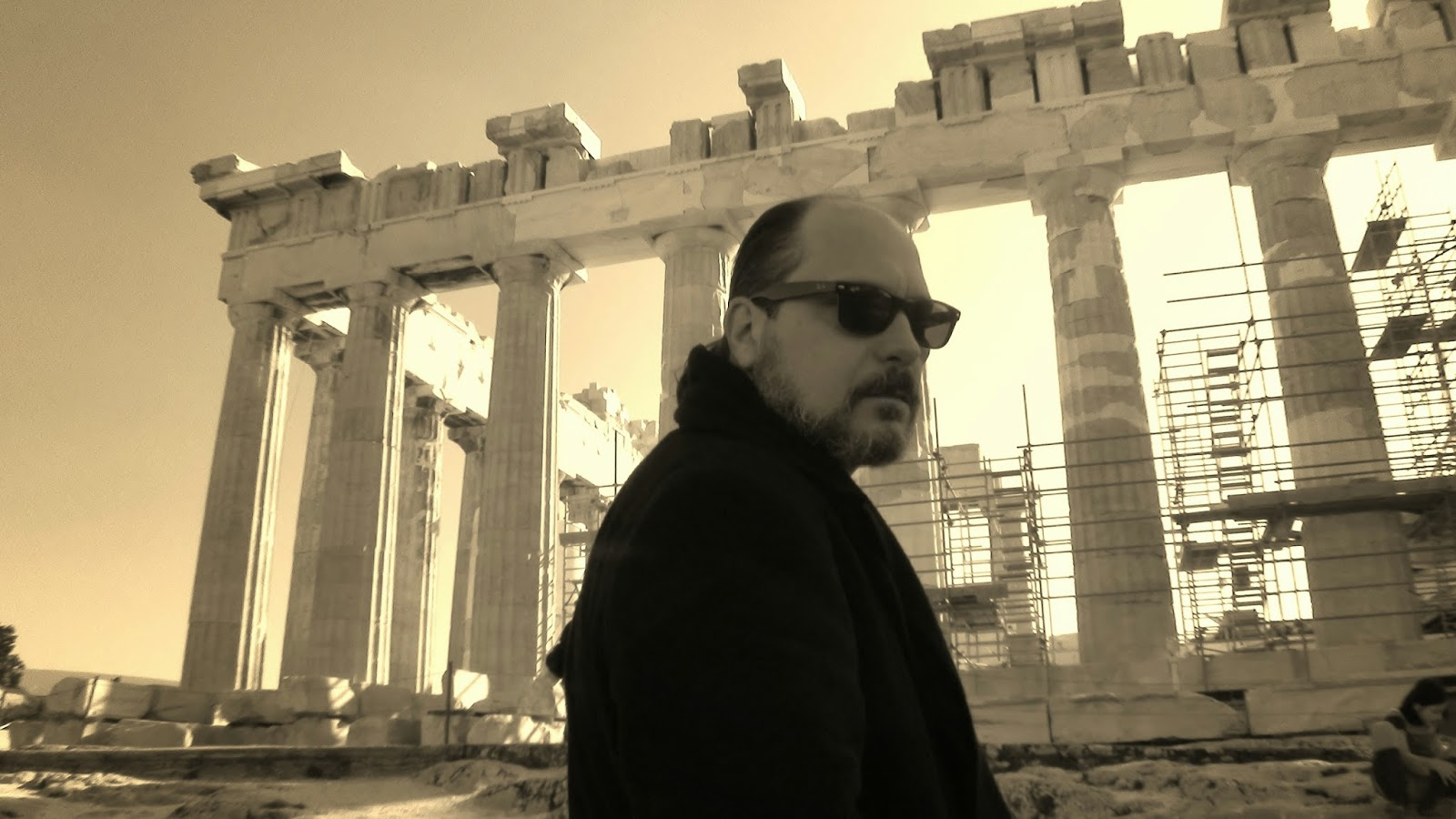 Mario Fattorello en el Partenon