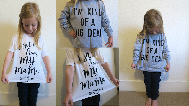 slogan tee and sweater