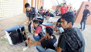 Sejumlah Club Motor Ikut Lomba Melukis Tong Sampah di RTH Sport Center Tebo