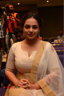 Actress Nithya Menen Pictures at 100 Days of Love Pre Release Press Meet  0164