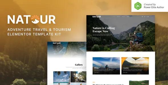 Best Adventure Travel & Tourism Elementor Template Kit