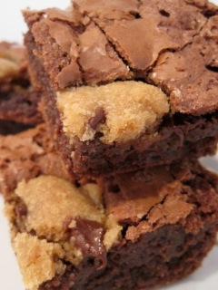 Chocolate Chip Cookie Dough Brownies from Bake Chocolate Cake