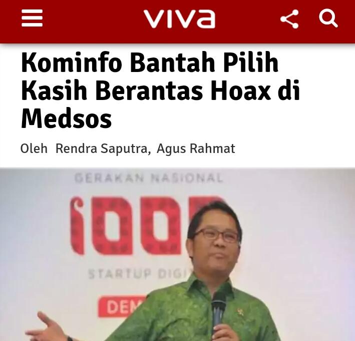 Kominfo Bantah Pilih Kasih Berantas Hoax di Medsos, Tanggapan Netizen Pedes Bangettt!