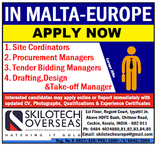 Urgent Required for Malta Europe
