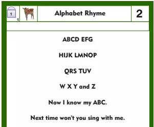 Teaching the Alphabet Sequence: