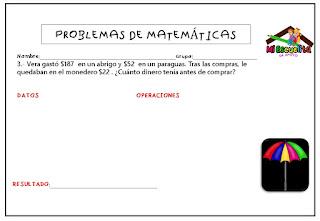 Problemas de matemáticas 3º primaria