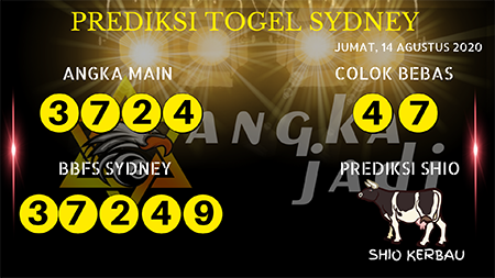 Prediksi Angka Jitu Sydney Jumat 14 Agustus 2020