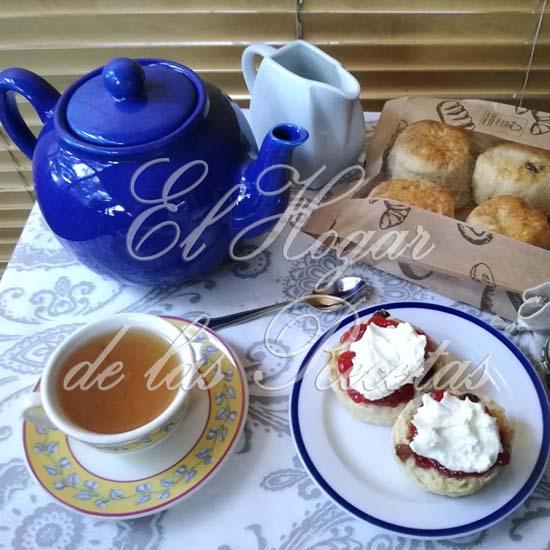 Scones con un buen té