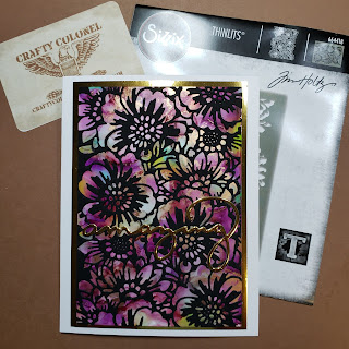 CraftyColonel Donna Nuce Sizzix Tim Holtz Ranger Alcohol Ink