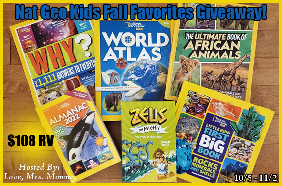 nat geo kids, national geographic kids books, fall books, book giveaway