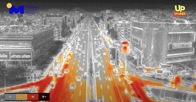 Τους 72 βαθμούς έδειξε η πτήση με θερμική κάμερα πάνω από την Αθήνα (βίντεο)