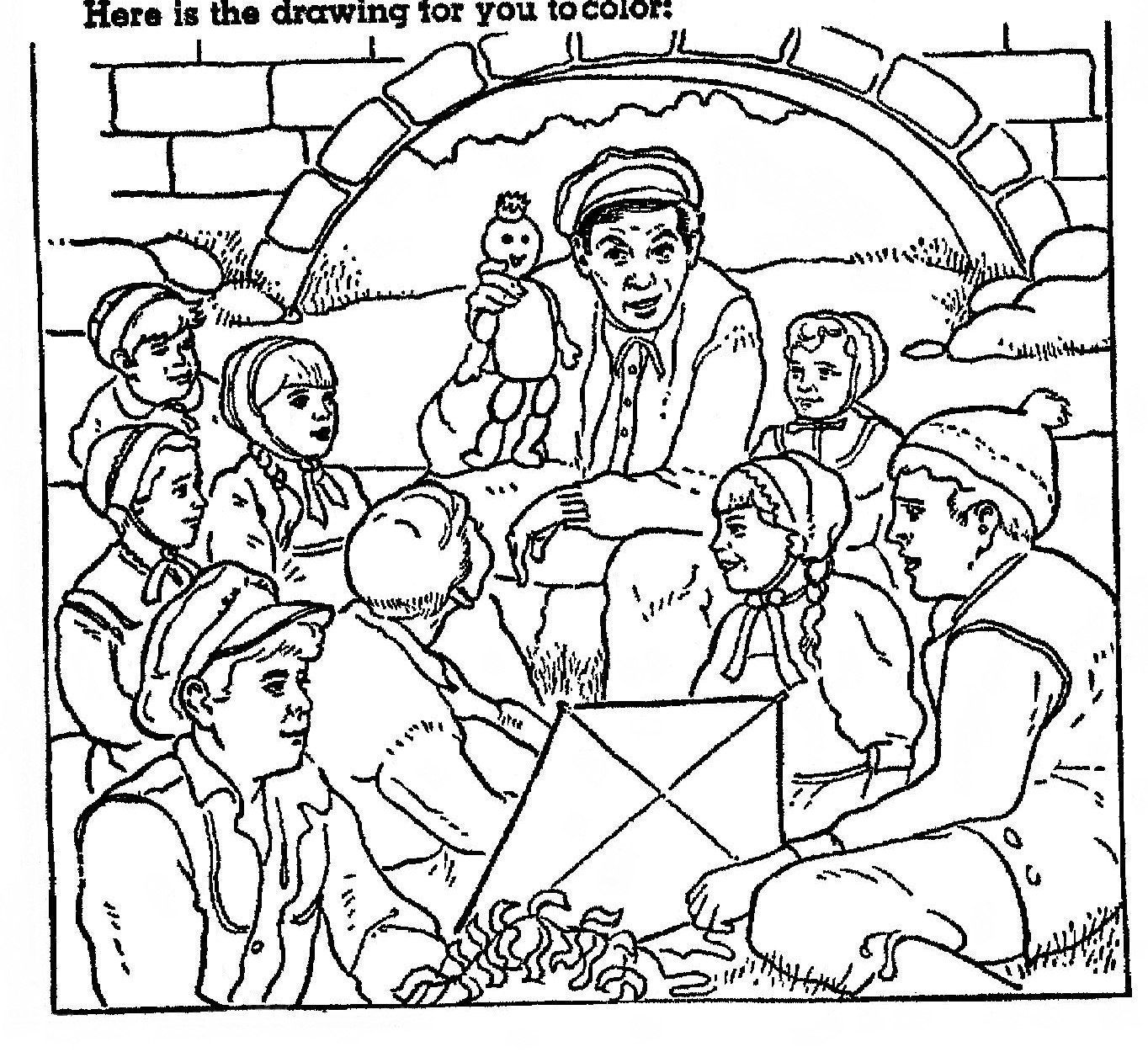 h c andersen coloring pages - photo#1