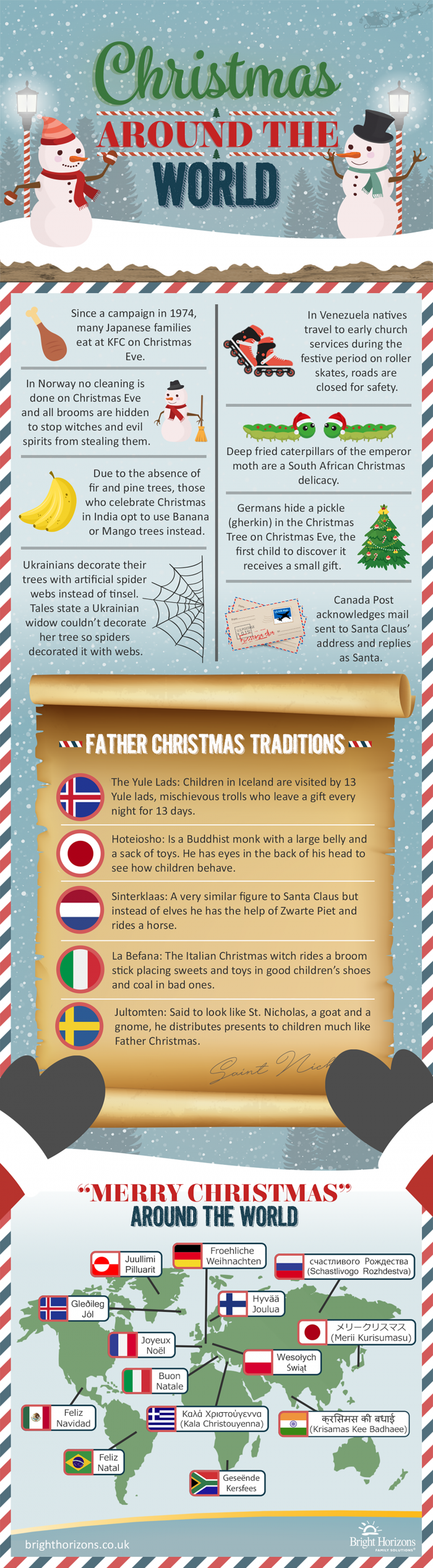 Christmas Traditions Around the World #infographic