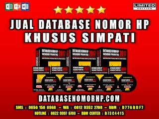 Jual Database Nomor HP Khusus Operator Simpati