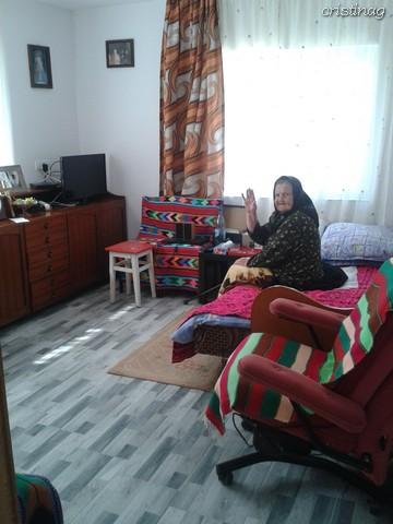 An octogenarian woman in a new European house