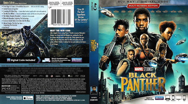 Black Panther (scan) Bluray Cover