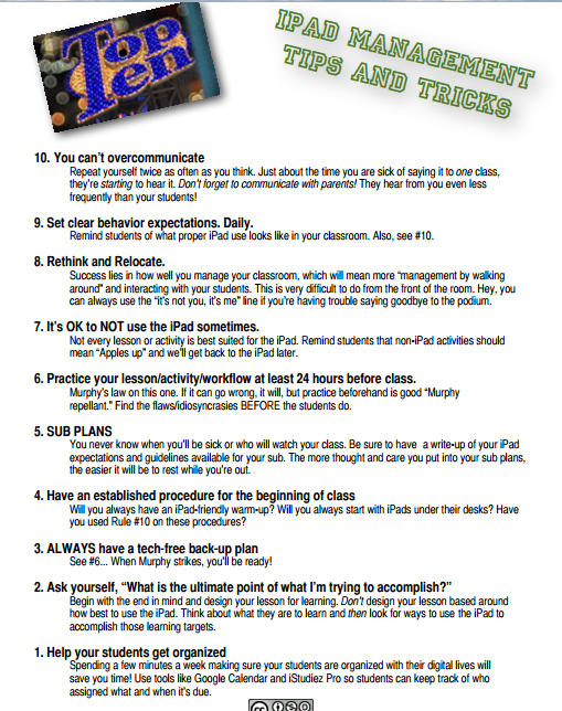 Great iPad Tips for Teachers | Educational Technology and