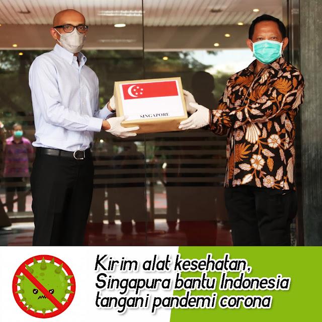 Singapura Berikan Bantuan Alat Test Covid-19