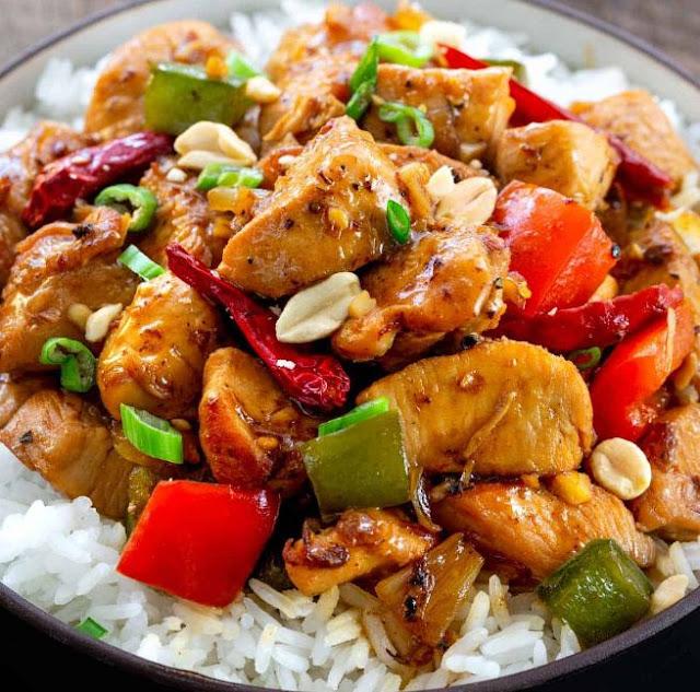 cara membuat chicken kung pao, resep mudah, resep praktis, makanan lezat