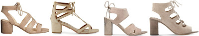 One of these pairs of lace-up sandals is from Aquazzura for $695 and the other three are under $90. Can you guess which one is the designer pair? Click the links below to see if you are correct!