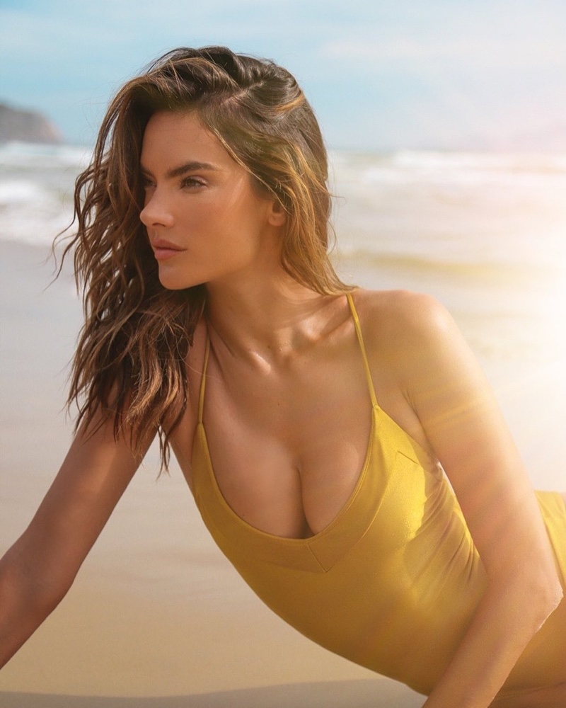 Alessandra Ambrosio models Gal Floripa Yantra swimsuit collection