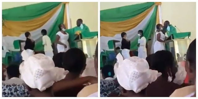Priest filmed kissing female students on the mouth inside the church (video)