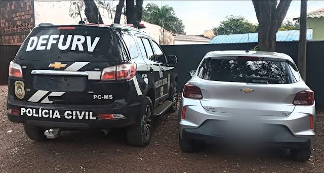 Jovem de 22 anos é preso em Ponta Porã por receptação dolosa de veículo furtado em SP