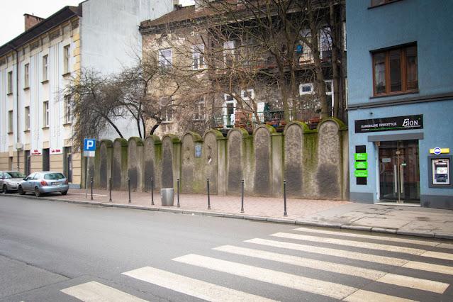 Muro del ghetto-Podgorze-Cracovia