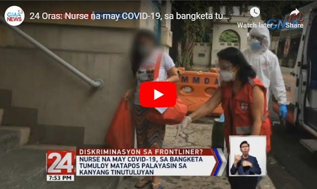 Isang Frontliner na Nurse pinalayas sa tinutuluyan