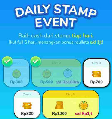 Misi Daily Stamp Event Cashtree