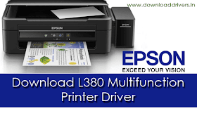 Download Epson L380 Printer and Scanner driver