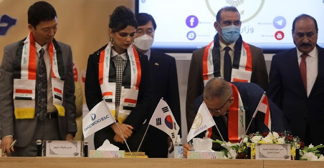 South Korea and Iraq sign a deal worth 2.7 billion dollars