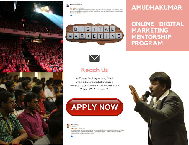 Online Digital Marketing Course by Amudhakumar | Whatsapp Driven | Instructor Led Live Session