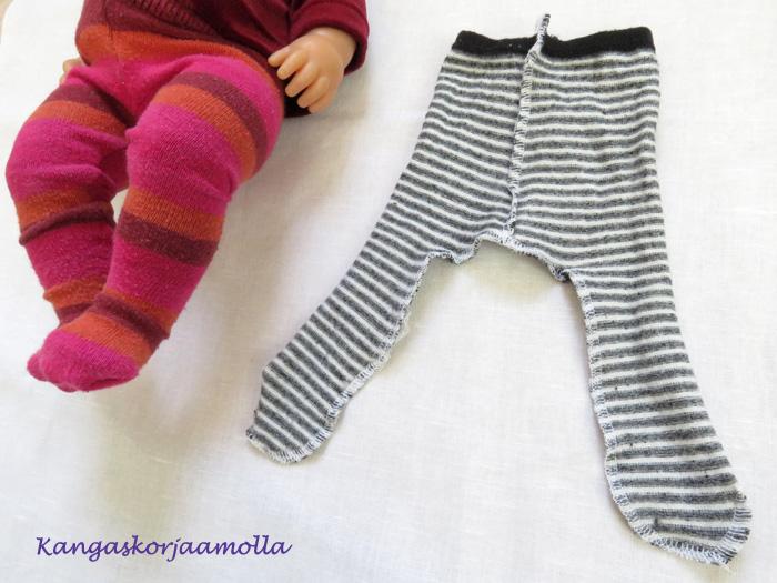 Ompele nuken sukkahousut