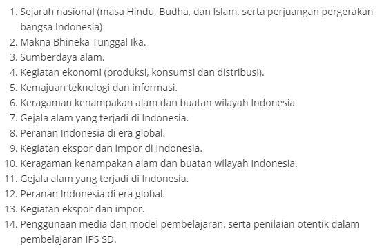 Materi Tematik SD OGN 2019 Ilmu Pengetahuan Sosial (IPS), http://www.librarypendidikan.com/
