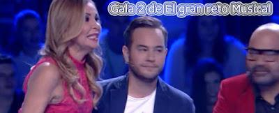 Gala 2 de El gran reto musical con Ana Obregon