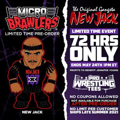 ECW Hardcore Legend New Jack Micro Brawlers Figure by Pro Wrestling Tees