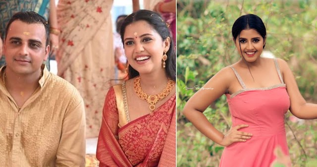 Miniscreen serial Actress 'Jeevitha Nouka' fame Anjana is getting married: Engagement Photos