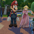 Mario Costume and Princess Peach