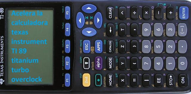 Acelera calculadora texas instrument ti89