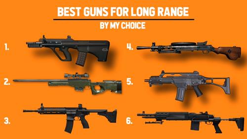 Các loài súng phù hợp với chiến tranh tầm xa
