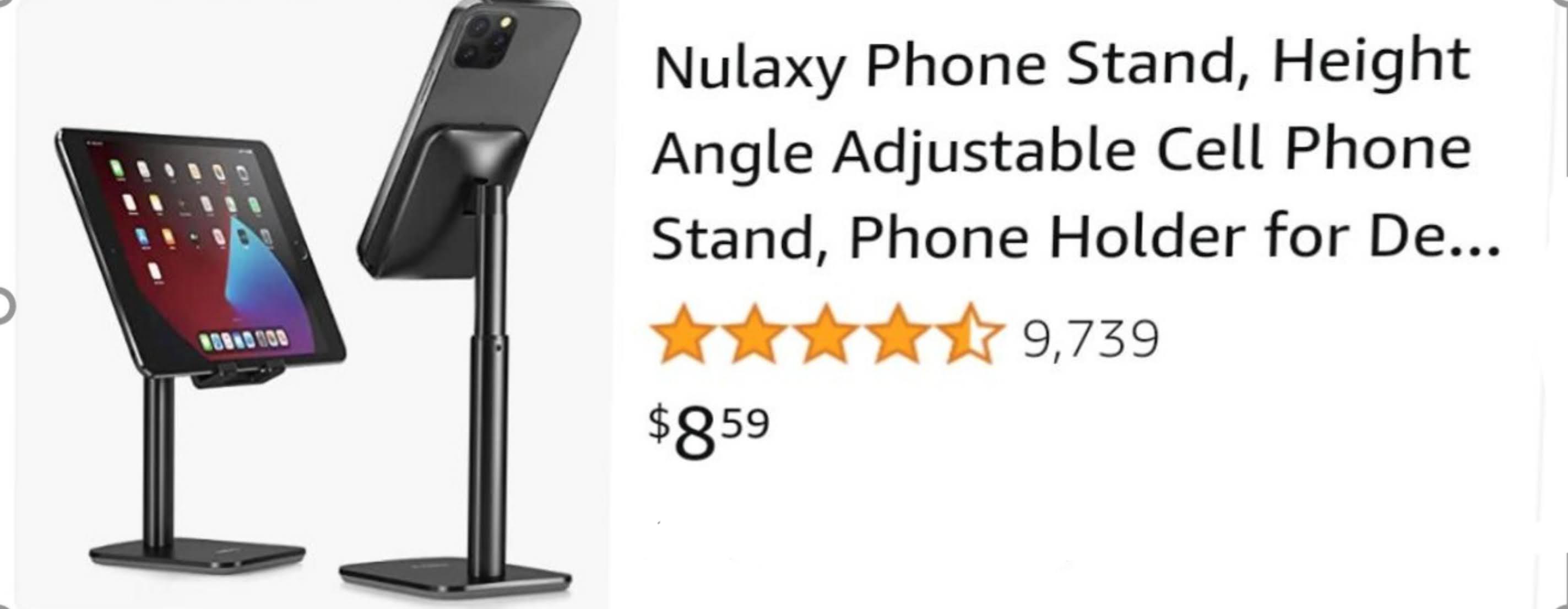 nulaxy phone stand $8.99