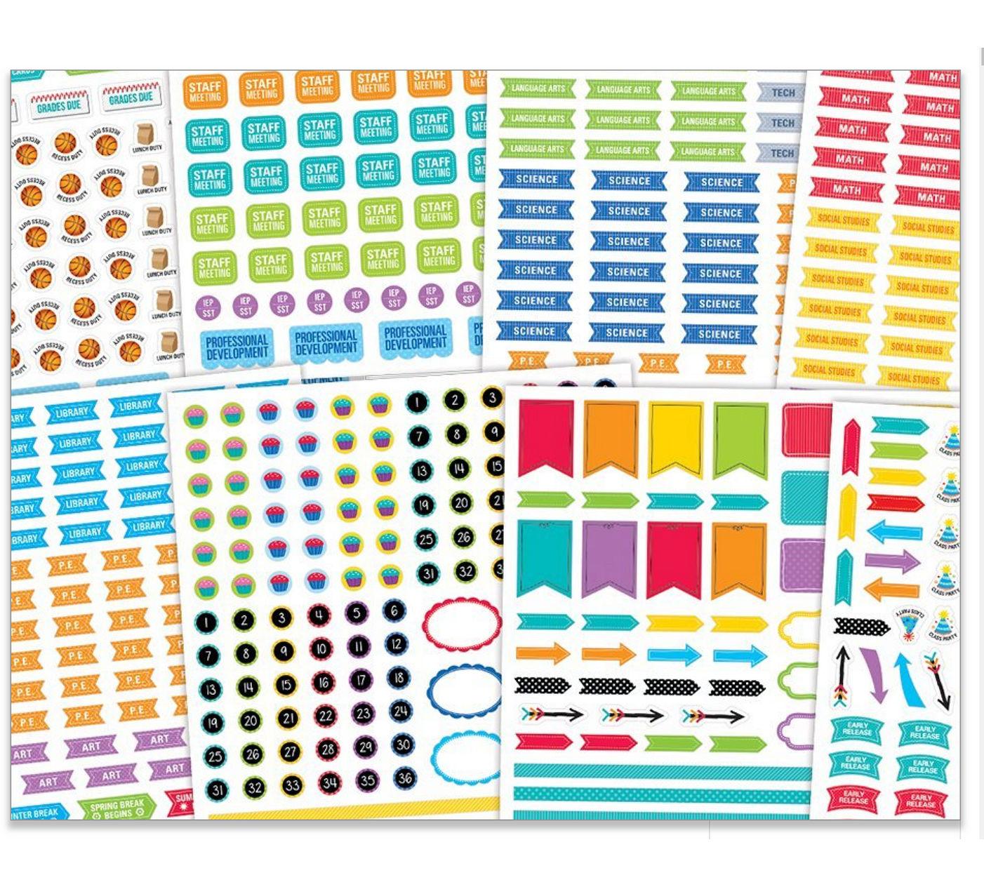 teacher educator bullet journal lesson plan stickers